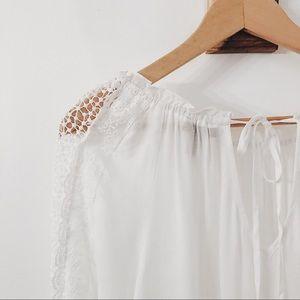 NWOT Jessica Simpson boho lace white shirt